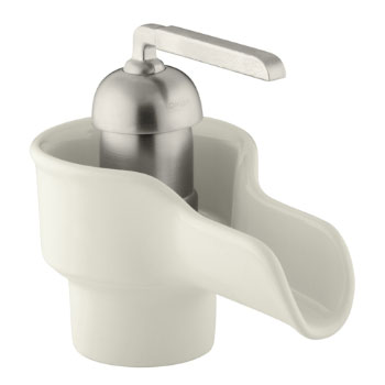 Kohler K-11000-96 Bol Ceramic Faucet - Biscuit with Brush Nickel Handle