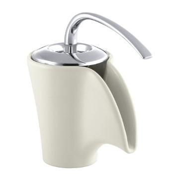 Kohler K-11010-96 Vas Ceramic Faucet Biscuit with Chrome Handle