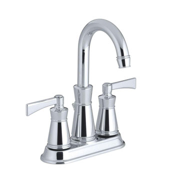 Kohler K-11075-4-CP Archer Lavatory Faucet With 4 in Centers - Polished Chrome
