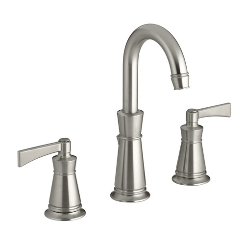 Kohler K-11076-4-BN Archer Widespread Lavatory Faucet With 8 in Centers - Brushed Nickel