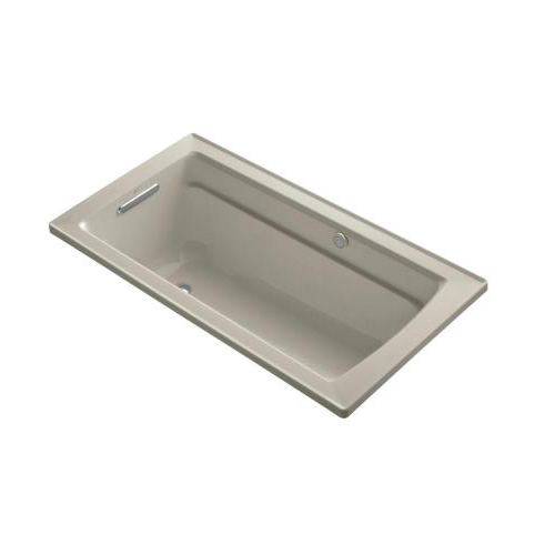 Kohler K-1122-G-G9 Archer Bubble Massage 5' Bath With Comfort Depth Design - Sandbar