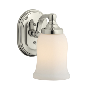 Kohler K-11421-SN Bancroft Single Light Wall Sconce - Vibrant Polished Nickel