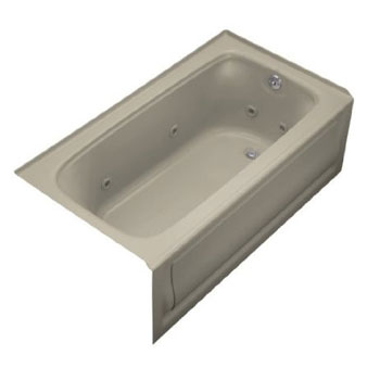 Kohler K-1151-RA-G9 Bancroft 5' Whirlpool With Integral Apron and Right Hand Drain - Sandbar