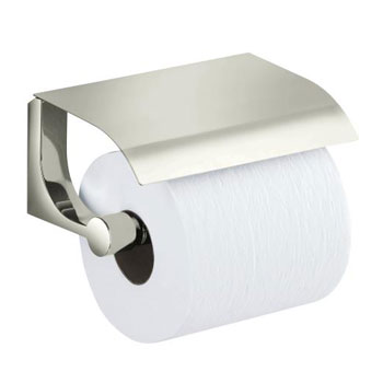 Kohler K-11584-SN Loure Covered Toilet Tissue Holder - Polished Nickel