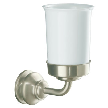 Kohler K-12161-BN Fairfax Toothbrush and Tumbler Holder - Brushed Nickel