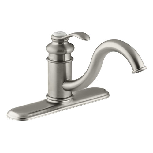 Kohler K 12171 Bn Fairfax Single Control Kitchen Sink Faucet Brushed Nickel