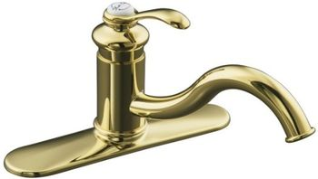 Kohler K-12171-PB Fairfax Single-Control Kitchen Sink Faucet - Polished Brass