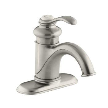 Kohler K-12181-BN Fairfax Single Handle Lavatory Faucet - Brushed Nickel