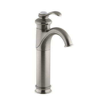 Kohler K-12183-BN Fairfax Tall Single Control Lavatory Faucet - Brushed Nickel
