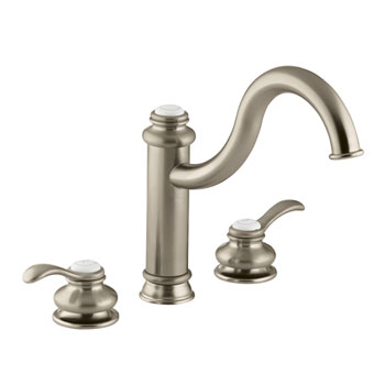 Kohler Faucet K-12230-BV Fairfax Two Handle Widespread Kitchen Faucet - Brushed Bronze