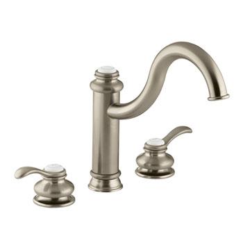 Kohler Faucet K-12230-BV Fairfax Two Handle Widespread Kitchen Faucet - Brushed Bronze