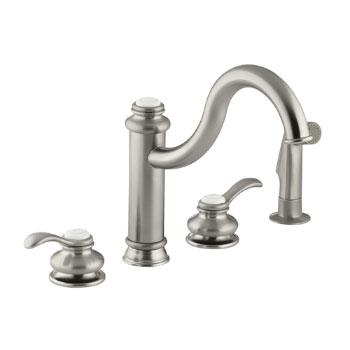 Kohler K-12231-BN Fairfax High Spout Kitchen Sink Faucet - Brushed Nickel