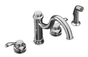 Kohler K-12231-CP Fairfax High Spout Kitchen Sink Faucet - Polished Chrome