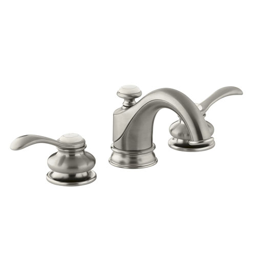 Kohler K-12265-4-BN Fairfax Lavatory Faucet with Lever Handles - Brushed Nickel