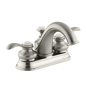 Kohler K-12266-4-BN Fairfax Two Handle Centerset Lavatory Faucet - Brushed Nickel