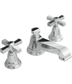 Kohler K-13132-3A-CP Pinstripe Pure Widespread Lavatory Faucet with Metal Cross Handles - Chrome