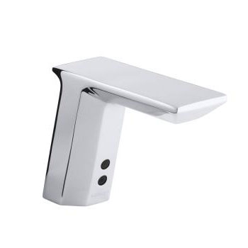 Kohler K-13468-CP Geometric Touchless AC Powered Deck Mount Faucet with Mixer - Chrome