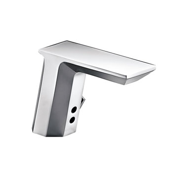 Kohler K-13469-CP Geometric Touchless AC Powered Deck Mount Faucet - Chrome