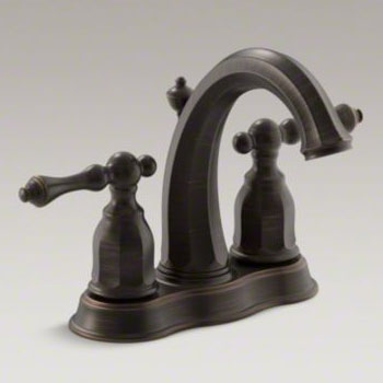 Kohler K-13490-4-2BZ Kelston Double Handle Centerset Lavatory Faucet - Oil Rubbed Bronze