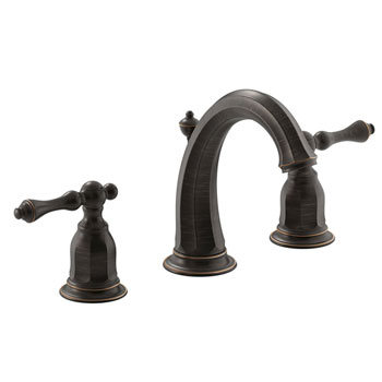 Kohler K-13491-4-2BZ Kelston Double Handle Widespread Lavatory Faucet - Oil Rubbed Bronze
