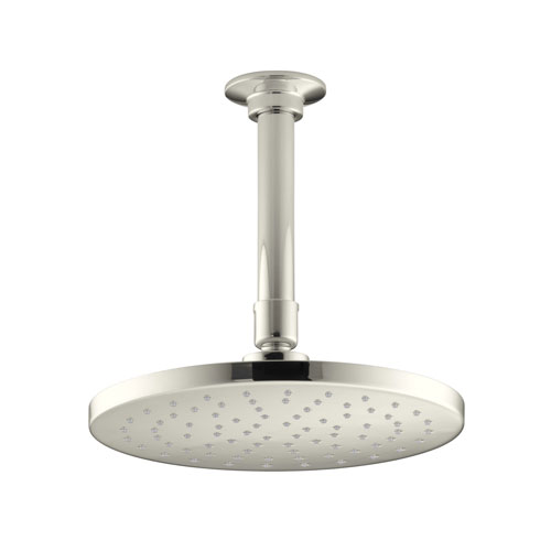 Kohler K-13688-SN Contemporary Round 8 in 2.5 gpm Rainhead with Katalyst Air-induction Spray - Polished Nickel