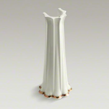 Kohler K-14267-WF-96 Prairie Flowers Design on Anatole Lavatory Pedestal - Biscuit