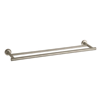 Kohler K-14375-BV Purist Double Towel Bar - Brushed Bronze