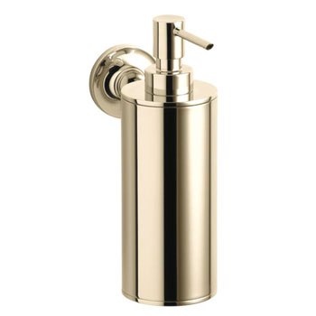 Kohler K-14380-AF Purist Wall-Mounted Soap Dispenser - French Gold