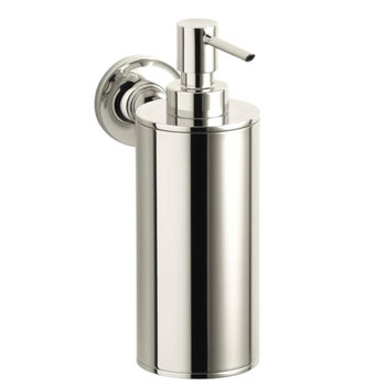 Kohler K-14380-SN Purist Wall-Mounted Soap Dispenser - Polished Nickel