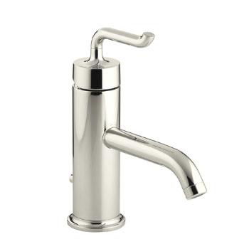 Kohler K-14402-4-SN Purist Single Control Lavatory Faucet - Vibrant Polished Nickel