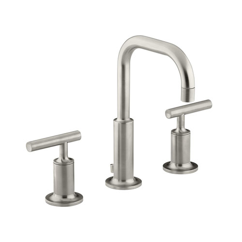 Kohler K-14406-4-BN Purist Widespread Lavatory Faucet - Brushed Nickel