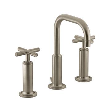 Kohler K-14407-3-BV Purist Widespread Lavatory Faucet - Brushed Bronze