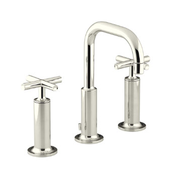 Kohler K-14407-3-SN Purist Widespread Lavatory Faucet - Polished Nickel