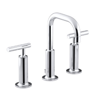 Kohler K-14407-4-CP Purist Widespread Lavatory Faucet - Polished Chrome