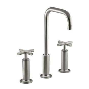 Kohler K-14408-3-BN Purist Widespread Lavatory Faucet - Brushed Nickel