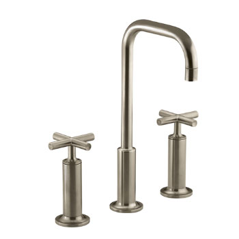 Kohler K-14408-3-BV Purist Widespread Lavatory Faucet - Brushed Bronze