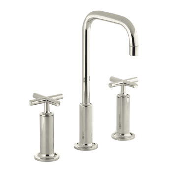 Kohler K-14408-3-SN Purist Widespread Lavatory Faucet - Polished Nickel