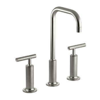 Kohler K-14408-4-BN Purist Widespread Lavatory Faucet - Brushed Nickel