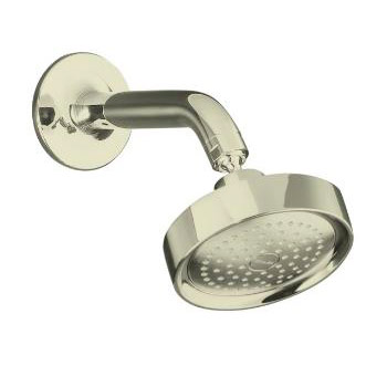 Kohler K-14418-SN Purist Single Function Showerhead, Arm and Flange - Vibrant Polished Nickel