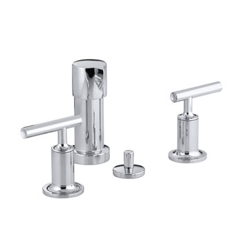 Kohler K-14431-4-CP Purist Two Handle Bidet Faucet - Polished Chrome