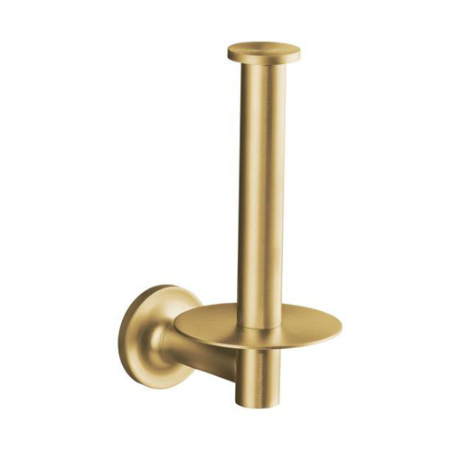 Kohler K-14444-BGD Purist Single Post Vertical Tissue Holder - Brushed Gold