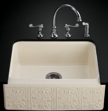 Kohler K-14572-SV-0 Savanyo Design on Alcott Undercounter Kitchen Sink - White