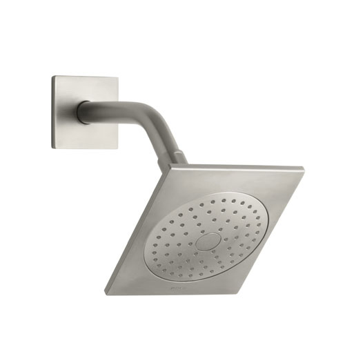 Kohler K-14786-BN Loure 2.5 gpm Single Function Showerhead with Katalyst Air-induction Spray - Brushed Nickel