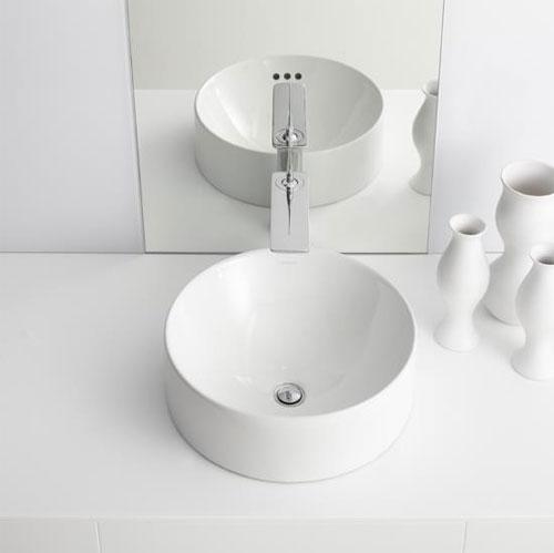 Kohler K 14800 0 Vox Round Vessel White Faucetdepot Com