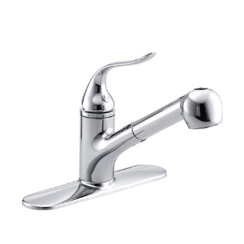 Kohler Kitchen Faucets Pull Out Spray kohler k-15160-cp coralais single control pullout spray kitchen