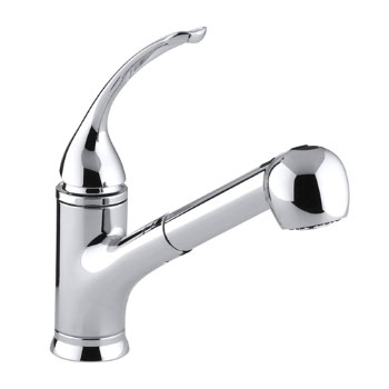 Kohler K-15160-L-CP Coralais Single Handle Kitchen Faucet with Pull-Out Spray - Polished Chrome