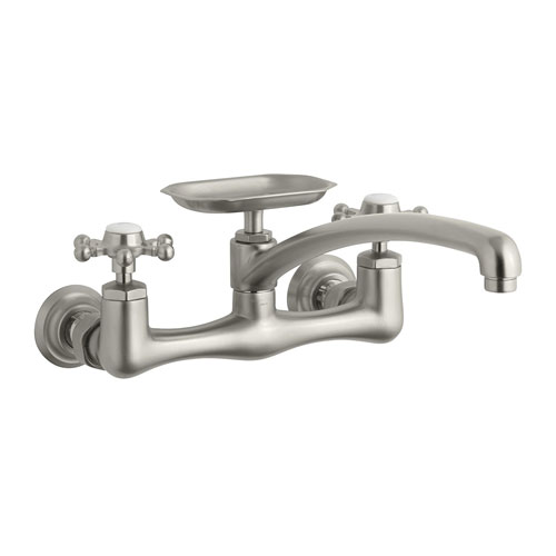 Kohler K 159 3 Bn Antique Wall Mount Kitchen Faucet W 12 Swing