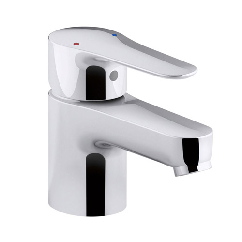 Chromed Bathroon Sink Faucet With Temperature Control: Kohler K-16027-4-CP July Single Control Lavatory Faucet