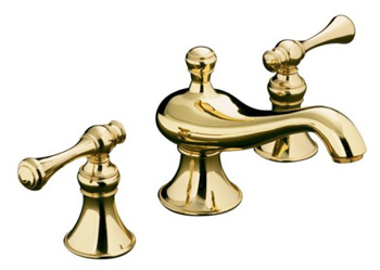 Kohler K-16102-4A-PB Revival Widespread Lavatory Faucet - Polished Brass