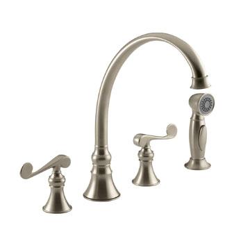 Kohler K-16109-4-BV Revival Two-Handle Kitchen Faucet - Brushed Bronze
